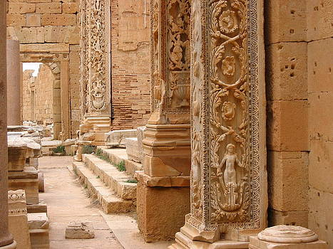 Ornate Decoration In Leptis Magna, Libya by Joe & Clair Carnegie / Libyan Soup