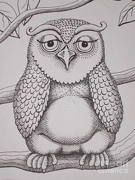 Owl sketch by Barbara Stirrup