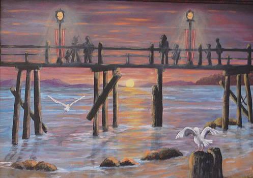 Pacific Ocean Moonlight by Janna Columbus