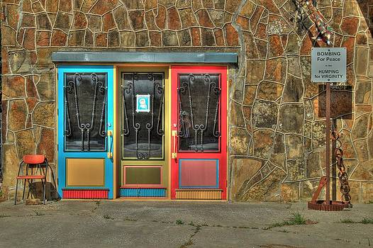 Pacifist's Three Doors by Terry Hollensworth-Rutledge