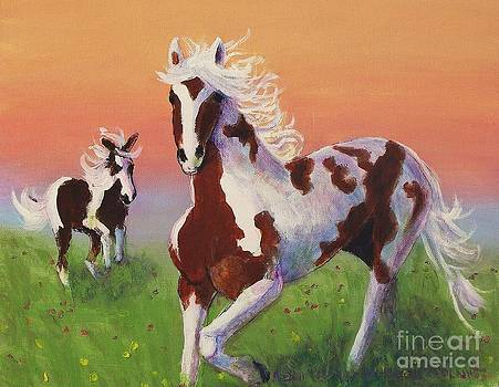 Painted Horses by Suzanne  Marie Leclair