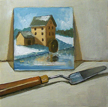 Joyce Geleynse - Painting Of A Painting With Palette Knife