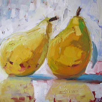 Pair of Pears by Marianne  Gargour