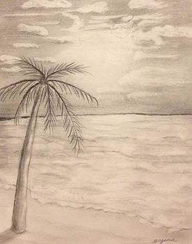 Palm Breeze by Bozena Zajaczkowska