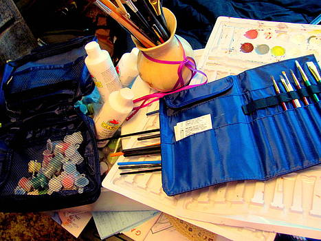Pants brushes supplies by Amy Bradley