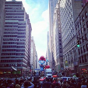 Papa Smurf! #nyc #macysparade I Hope by John De Guzman