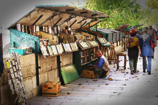 Paris Book Seller by Jan Lowe