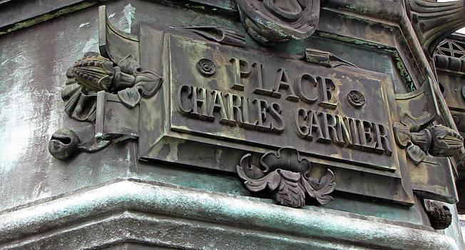 TONY GRIDER - Paris Lamp Post Street Sign