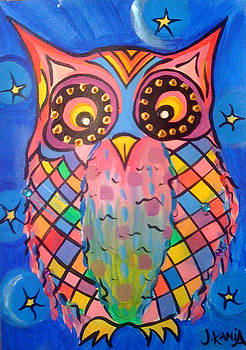 Patchwork Owl by Jonathan Kania
