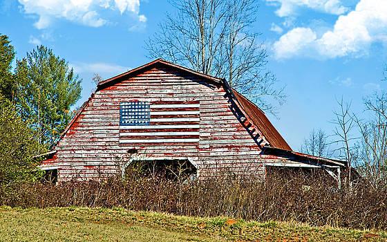 Patriotic Barn by Susan Leggett