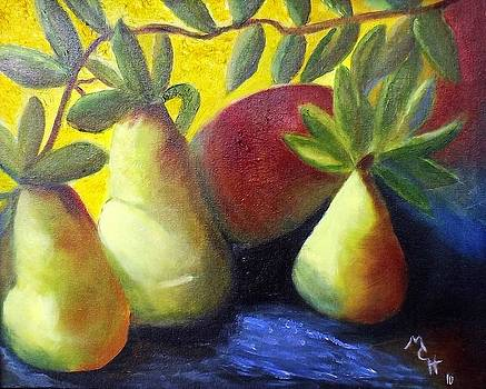 Pears in Sunshine by Margaret Harmon
