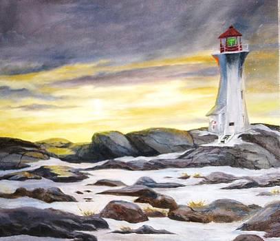 Peggy's Cove Nova Scotia by Anne Marie Spears