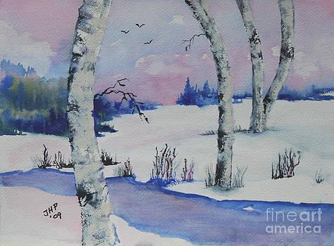 Pennys Winter Scene by Joan Putnam