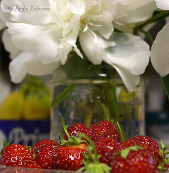 Anne Babineau - peonies and strawberries
