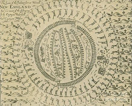 Photo Researchers - Pequot War Mystic Massacre 1637
