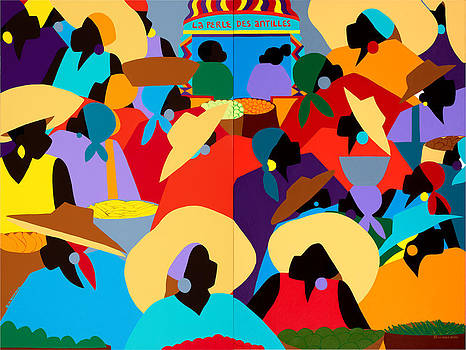 Petion-Ville Market Diptych by Synthia SAINT JAMES