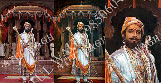 Photo Canvas Painting of Shivaji by Atul Wagh
