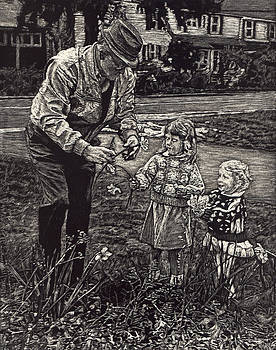 Picking Flowers with Grandpa by Robert Goudreau
