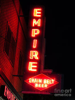 Paul Velgos - Picture of Empire Tavern and Liquors Sign Fargo ND