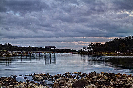 Pier at Dawn by Katherine Worley