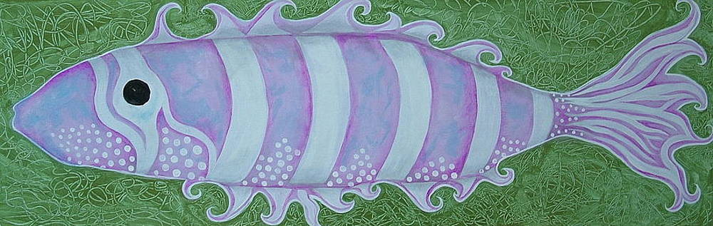 PinK and WhiTe StyLized FantaSy FisH by Teresa Grace Mock