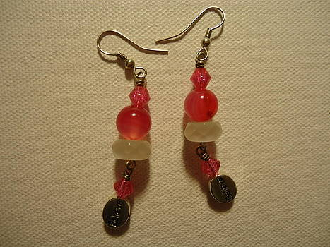 Pink Believer Earrings by Jenna Green