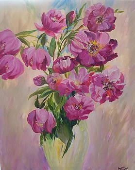 Pink Peonies by Barbara Ruzzene