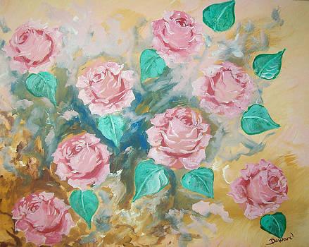 Pink Roses by Raymond Doward