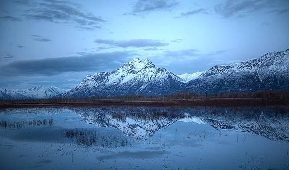 Pioneer Peak Reflections by Sam Amato