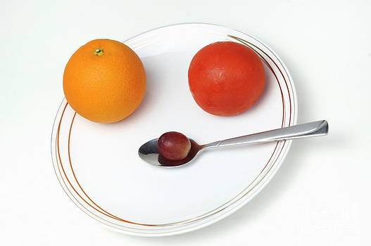 Sami Sarkis - Plate and spoon with fruits
