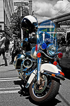 Police Harley by Aidan Minter