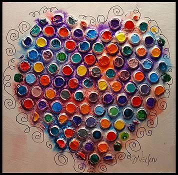 Polka Dot Heart by Carol  Nelson