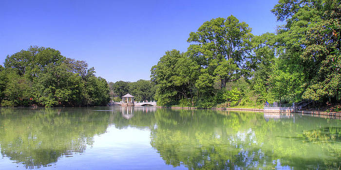 Pond at Piedmont Park by Orlando Guiang