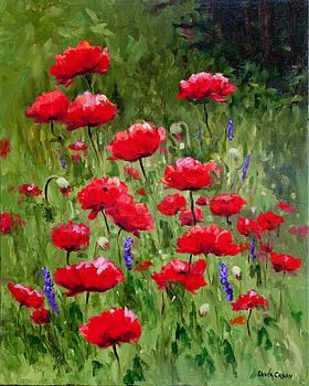 Poppies In A Meadow II by Glenda Cason