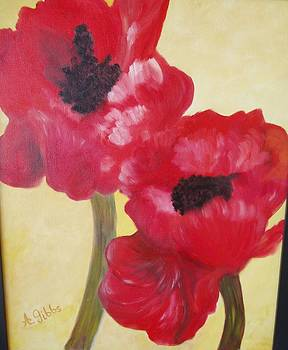 Poppies Of The Field by Arlene Gibbs