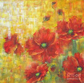 Poppies On A Sunny Day by Kathleen Pio