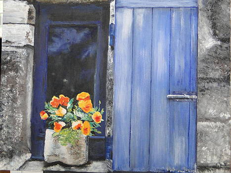 Poppies on the Windowsill by Cindy Plutnicki