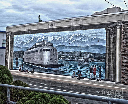 Gregory Dyer - Port Angeles  - Ferry Mural