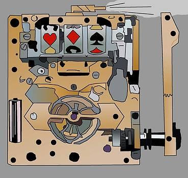 Portable Steampunk Slot Machine by Casino Artist