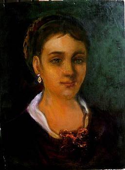 Portrait of a young women  by Sylva Zalmanson