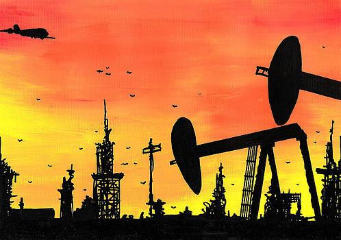 Jera Sky - Post Apocalyptic Oil Skyline