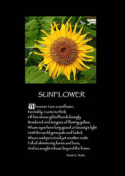 Poster Poem - Sunflower by Poetic Expressions