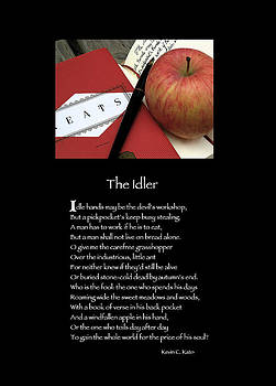 Poster Poem - The Idler by Poetic Expressions