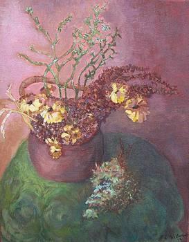 Pot of Mums by Laurel Anderson-McCallum