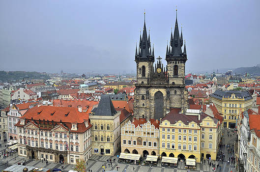 Prague Teyn church by Travel Images Worldwide