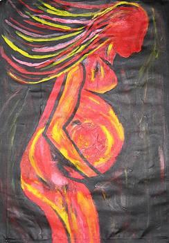 Pregnant Red by Gloriana Hernandez