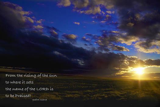 Pslam 113 Sunset by Jay Warwick