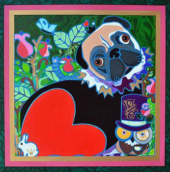 Pug of Hearts by Jenny Valdez