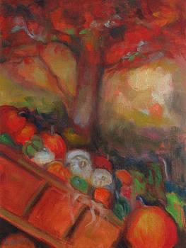 Pumpkin Cart by Susan Hanlon