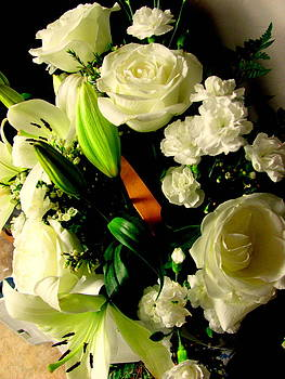 Pure White Bouquet by Amy Bradley